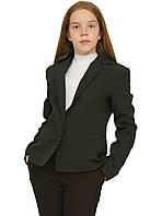 Пиджак школьный для девочки м-853  рост 116-170 зеленый