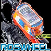 Велосипедная сумка на раму для смартфона Roswheel M Trier Orange