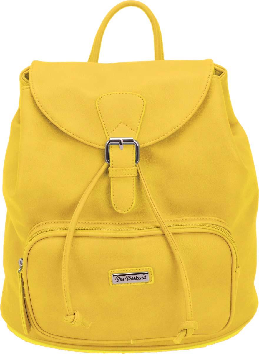 Молодежная сумка-рюкзак Yes Weekend, желтая
