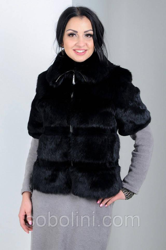 куртка меховая жилет