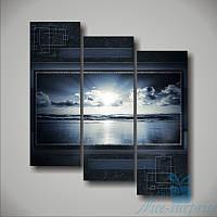 Модульная картина Морские волны из 3 фрагментов, фото 1