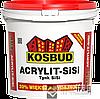 ТМ KOSBUD ACRYLIT SISI силикатно-силиконовая штукатурка (ТМ КОСБУД АКРИЛИТ-CИСИ ), 25 кг.