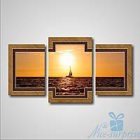 Модульнакая картина Морской пейзаж из 3 частей