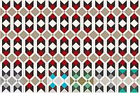 Арабская плитка, 20х20 см. Геометрический  рисунок