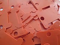 Шпули пластиковые для мулине (500 шт). Цвет - оранжевый, фото 1