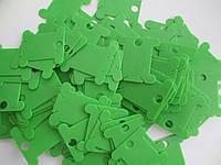 Шпули пластиковые для мулине (500 шт). Цвет - салатовый, фото 1