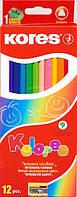 Карандаши цветные KORES Kolores 12 цветов 96312 Киев
