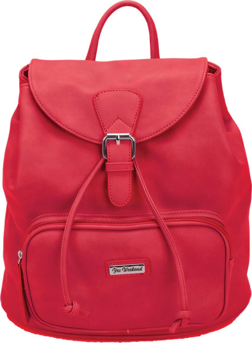 Молодежная сумка-рюкзак Yes Weekend, красный