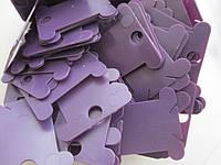 Шпули пластиковые для мулине (250 шт). Цвет - фиолетовый, фото 1
