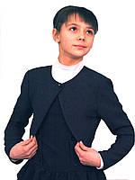 Болеро детское школьное М-940  рост от 116 122 128 134 140 146 152 и 158164, синий, фото 1