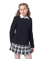 Пиджак школьный для девочки м-863 рост 116 122 128 134 140 146 152 158 164 и 170 черный, фото 1