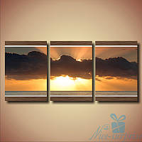 Модульнакая картина Триптих Облако из 3 частей