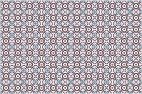 Декоративная цементная плитка ручной работы в марокканском стиле, 20х20 см. Цветочный орнамент