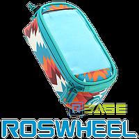Велосипедная сумка на раму для смартфона Roswheel L Trier Blue