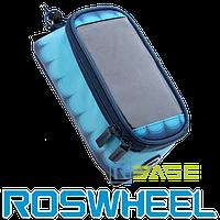 Велосипедная сумка на раму для смартфона Roswheel L Toss Blue