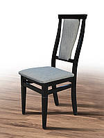 Мягкий деревянный стул для гостиной  с высокой спинкой Чумак, венге