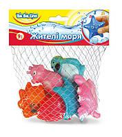 Набор игрушек для купания Жители моря (украинская упаковка), BeBeLino (57088)