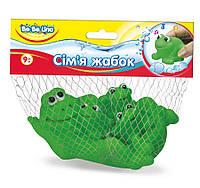 Набор игрушек для купания Семья лягушек (украинская упаковка), BeBeLino (57091)