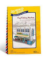 Трехмерная головоломка-конструктор Тайвань Рыбный рынок CubicFun (W3162h)