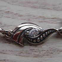 Серебряный женский браслет с фианитами, 180мм, фото 3