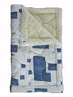 Меховое одеяло полуторное, Геометрия (155х215 см.)