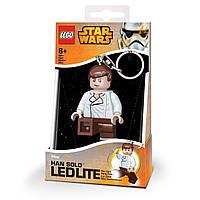 Lego Брелок-фонарик Звездные Войны Хан Соло (Han Solo, Star Wars), IQ (LGL-KE82)