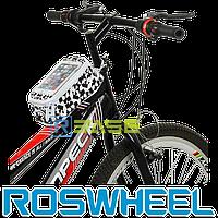 Велосипедная сумка на раму для смартфона Roswheel M Waal White