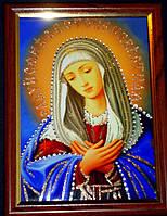 Икона со стразами Богородица