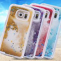 Чехол для Samsung S6 Edge G925 жидкий с блестками, фото 1