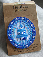 Сувенирное украшение яйцо пасхальное  магнит резиновый высота 5,5 см.