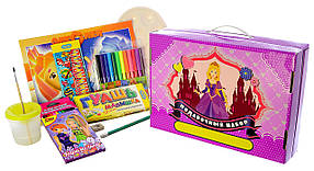 """Подарочный набор для детского творчества """"Принцессы"""" 68 предметов"""