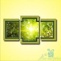 Модульнакая картина Триптих Первые лучи из 3 модулей