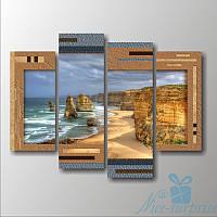 Модульна картина Узбережжі Австралії 4 фрагментів, фото 1
