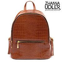 Коричневый рюкзак из кожи (питон)