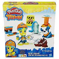 Дорожный рабочий и щенок - набор с пластилином Play-Doh Town, Play-Doh (B3411)