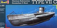 Подводная лодка (1939-1944гг., Германия) U-Boot Typ VIIC 1:350, Revell (5093)