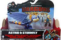 Астрид и дракон Громгильда в фиолетовом окрасе - набор, Как приручить дракона, Spin Master (SM66594-6)