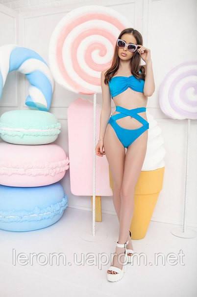 Мегастильный  купальник в ретро-стиле со шлейками