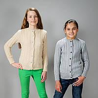 Детская вязанная кофточка для девочки