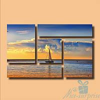 Модульная картина Прогулка по морю из 5 фрагментов