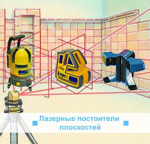 Лазерные построители плоскостей