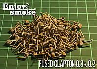 Готовая спираль Fused Clapton Coil (Kanthal 2*0.3 + Nichrome 0.2, 5 витков;  ф=2 мм), 2 шт.
