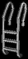 Лестница для бассейна 4 ступени De Lux (Mixta) сталь 304, производство Украина