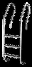 Сходи для басейну 3 ступені De Lux (Mixta) сталь 304, виробництво Україна, фото 2