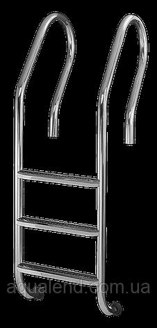 Сходи для басейну 5 ступенів De Lux (Mixta) сталь 304, виробництво Україна, фото 2