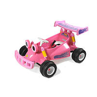 Электромобиль  YJ129-PINK детский картинг, гоночная машинка, карт на радиоуправлении