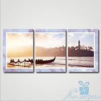 Модульнакая картина Триптих Рыбаки из 3 частей