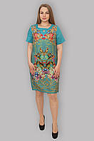 Платье бирюза из льна 001, фото 1