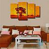 Модульная картина Солнце за деревом из 4 фрагментов