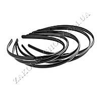 Обруч пластиковый черный, ширина 8 мм, 12 штук (часто используется как фурнитура)